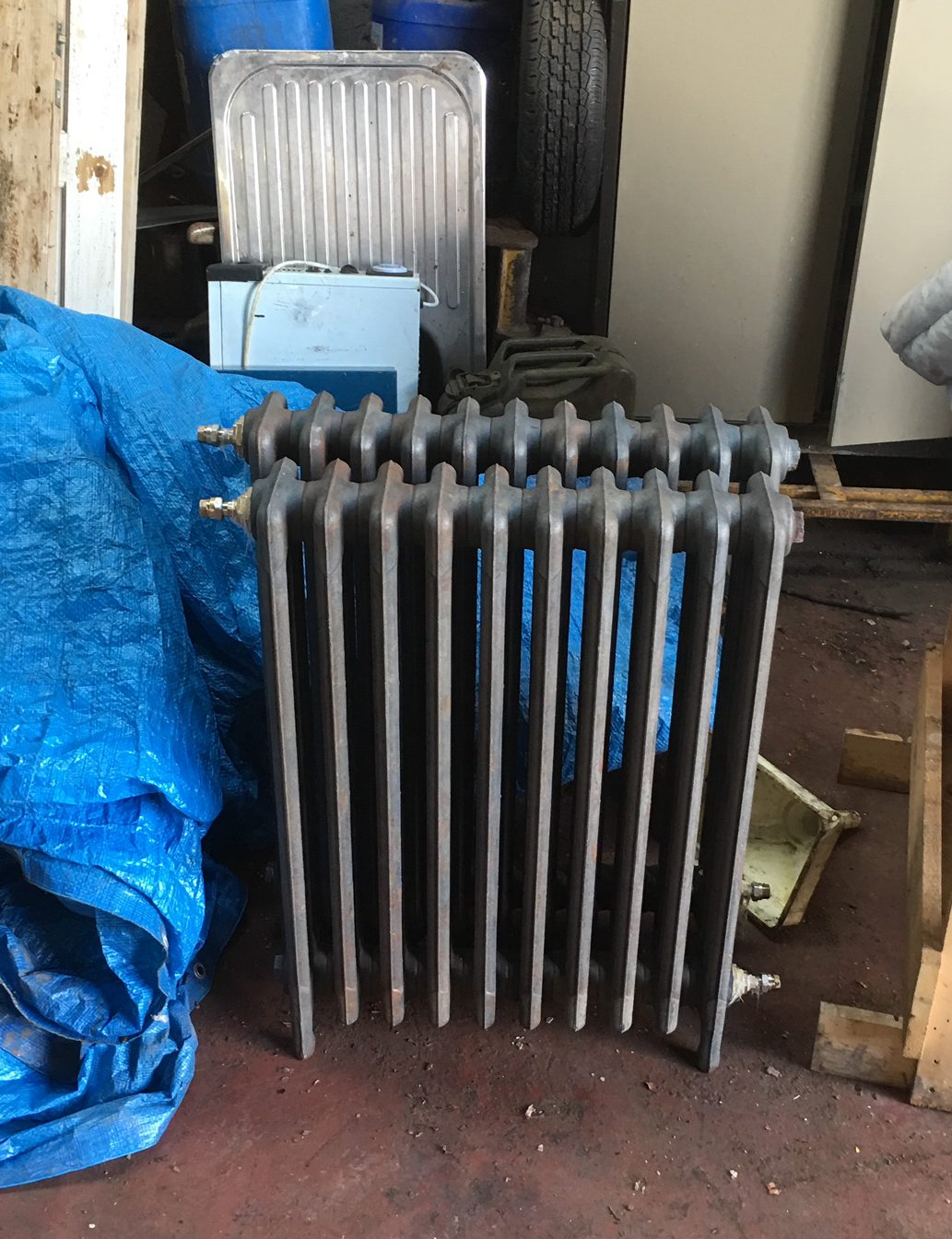 cast iron radiator - looks great after dip & strip process